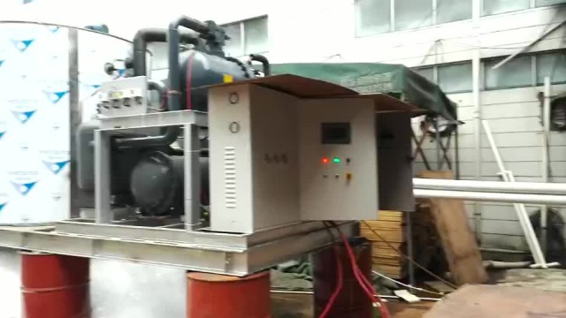 30Tons Flake Ice Machine Test Video