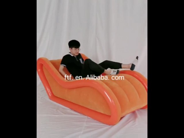 Inflatable flocking chair