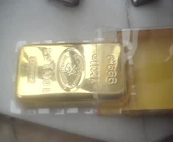 Gold bar door stop thumbnail image
