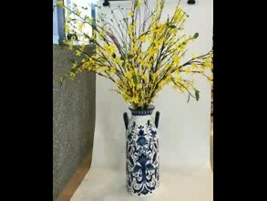 hand painted ceramic vase for home decor thumbnail image