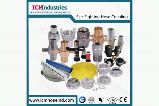 Fire fighting hose coupling thumbnail image