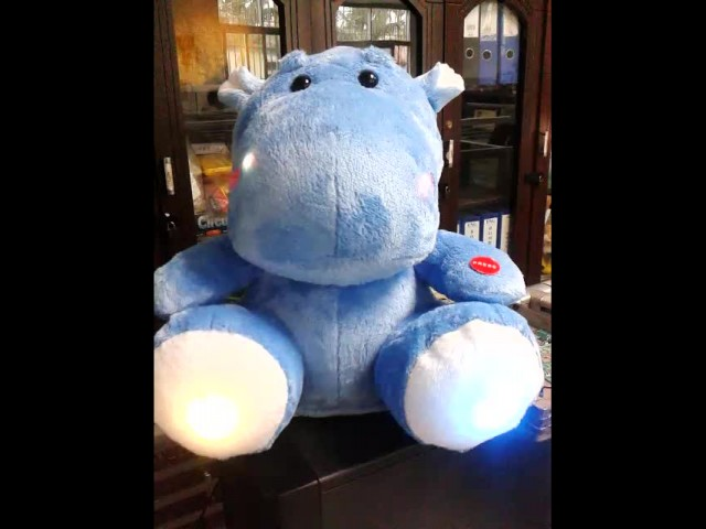 Lighting and singing plush toy