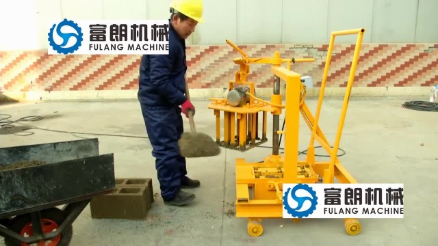 QTF40-3C manual concrete hollow block machine thumbnail image