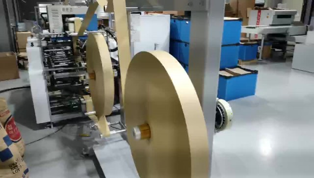 Full automatic paper bag handle pasting machine thumbnail image