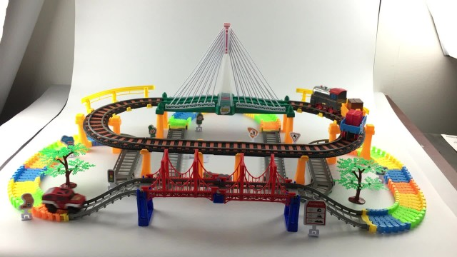 electric railway race track toy thumbnail image