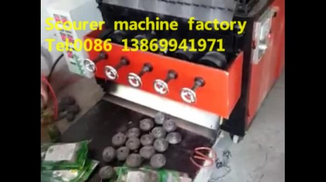 Stainless steel scourer ball making machine thumbnail image