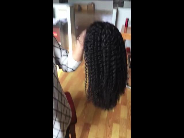 Curly 100% Virgin Human Hair Wig thumbnail image