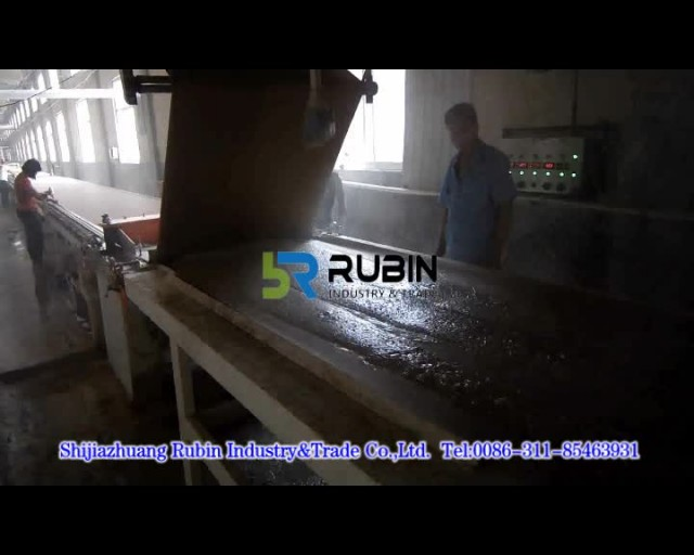 Gypsum board production line from Rubin Industry