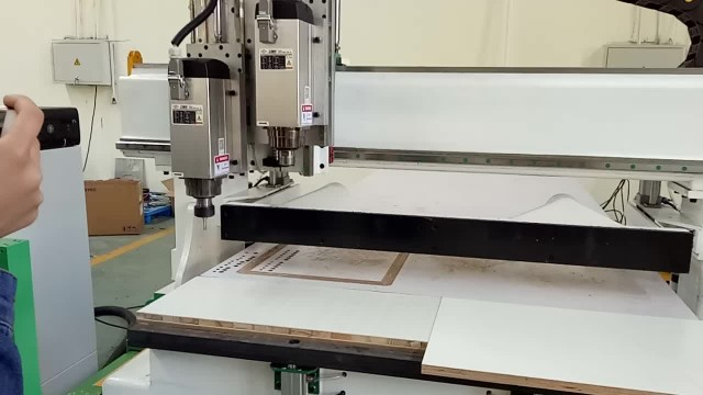 Wood CNC Machine With 2 Heads