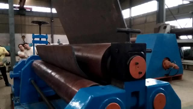 3 roller metal sheet rolling machine