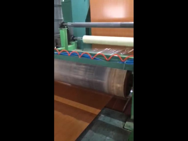 our machine is producing wooden PPGI  on line