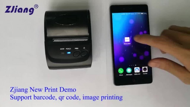 ZJ-5802 Mini Printer test with Print Demo thumbnail image