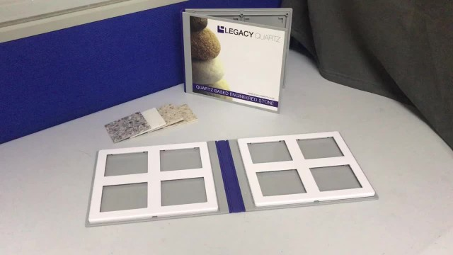 Plastic Quartz Stone Sample Book