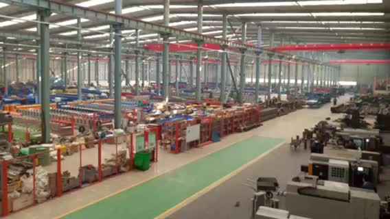 Building materials roll forming machine