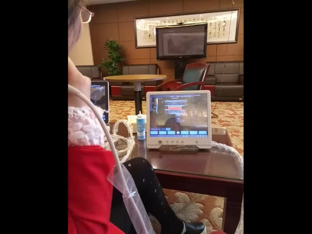 QSONO Q3 color ultrasound machine. thumbnail image