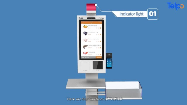 TPS700P Self-service food ordering payment kiosk thumbnail image