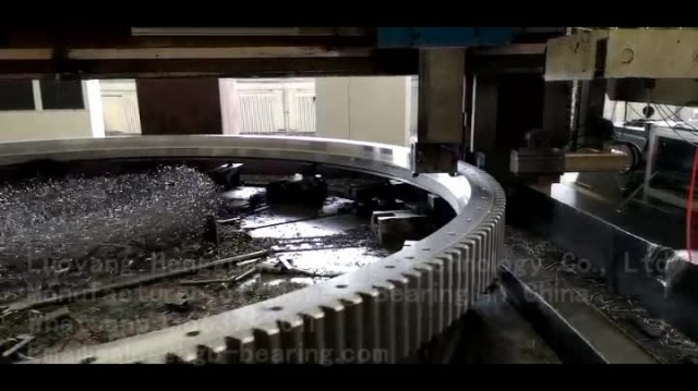 Video of Precision Turning of Slewing Bearing thumbnail image