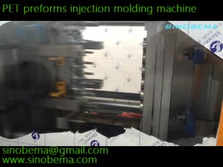 PET preforms injection molding machine