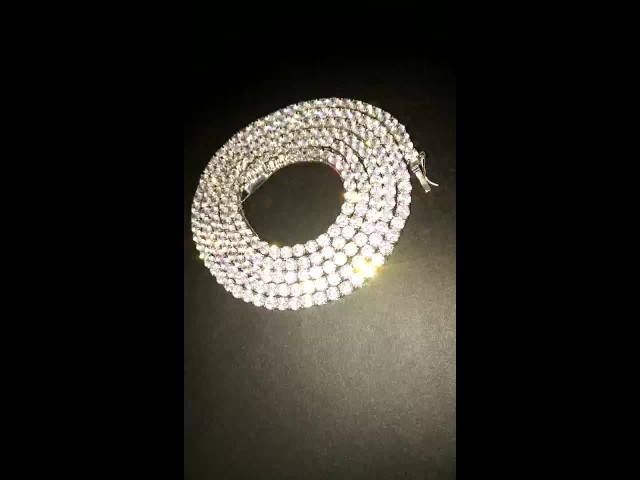 stainless steel tennis chain thumbnail image