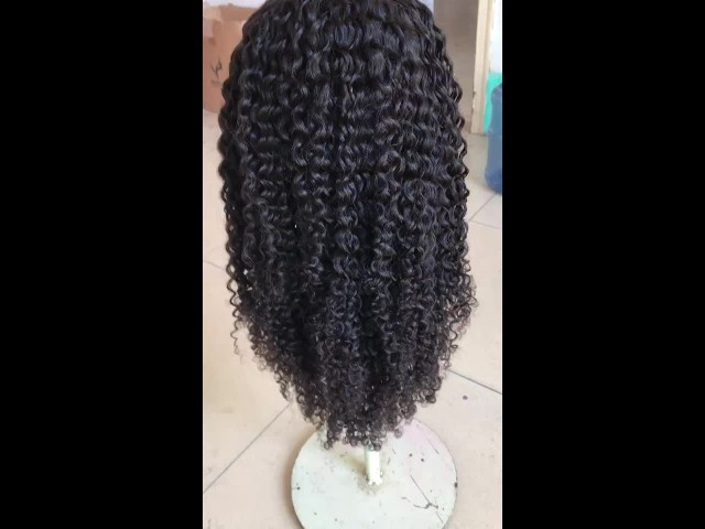 Curly Human Hair Full Lace Front Wig Wholesale thumbnail image