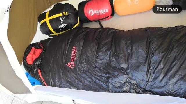mummy type down sleeping bag