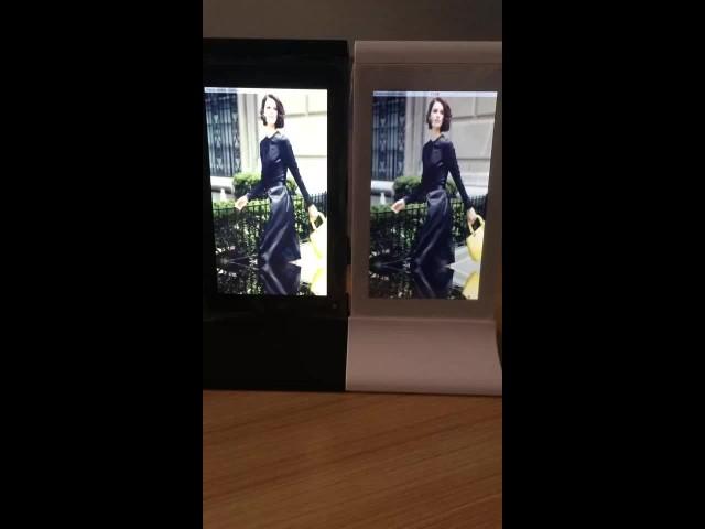 electronic advertising display screen thumbnail image