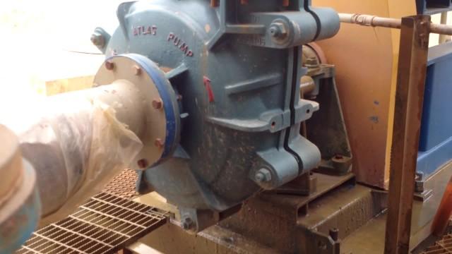 Atlas WX heavy duty slurry pump on site