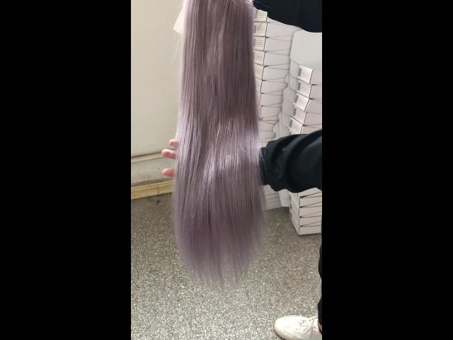 1bGrey Straight Hair Full Lace Front Wigs thumbnail image