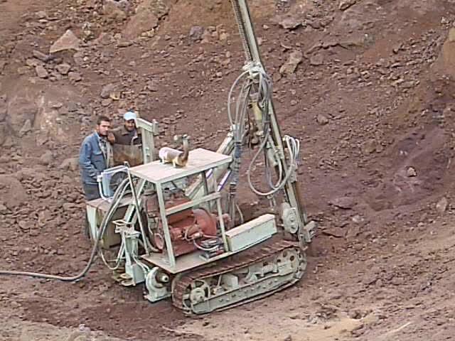 Iron mine drilling