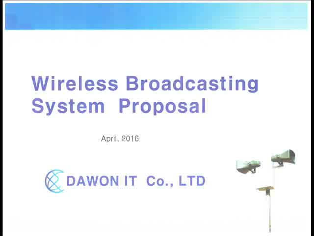 Wireless Speaker Broadcasting system Proposal