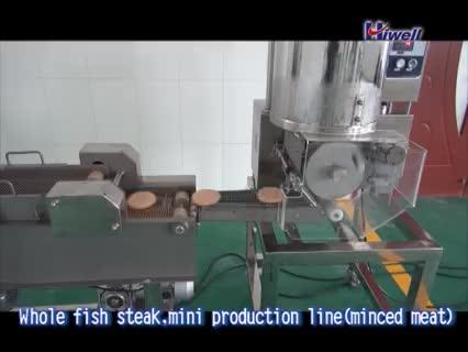 mini burger/nuggets forming and coating machinery thumbnail image