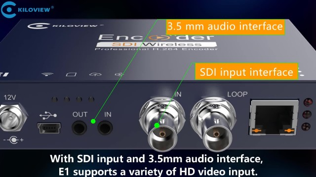 kiloview E1 h.264 sdi over ip encoder thumbnail image