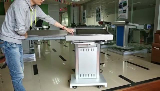 Aluminum Digital podium with audio visual system thumbnail image