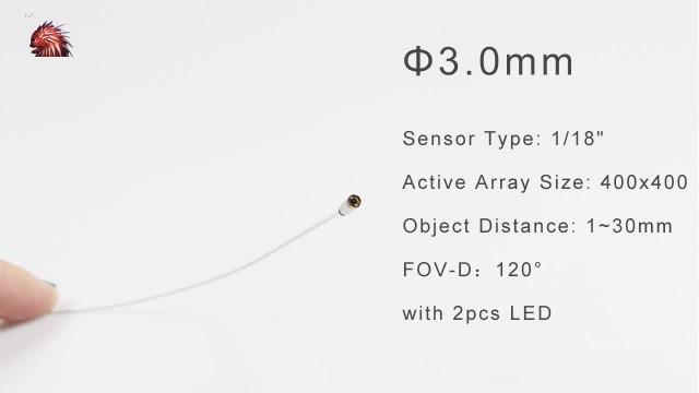 3.0mm endoscope medical camera module