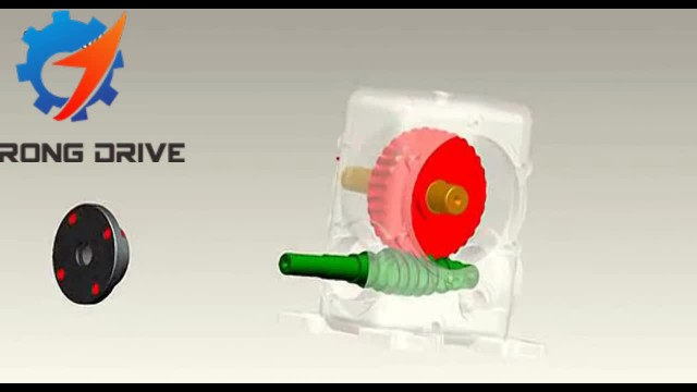 StrongDrive worm gearbox 3D exploded View