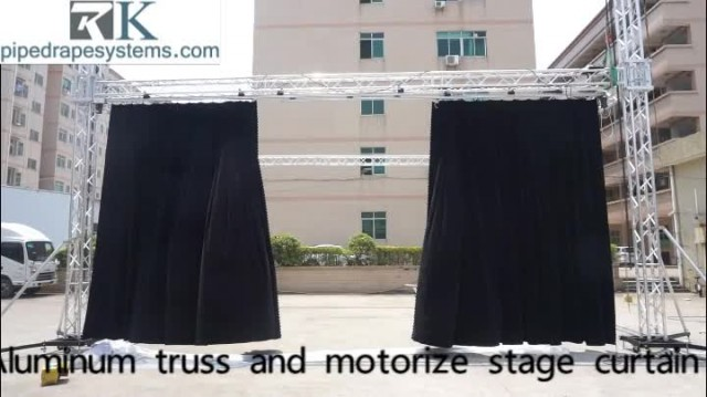 Aluminum motorize stage curtain light truss system thumbnail image