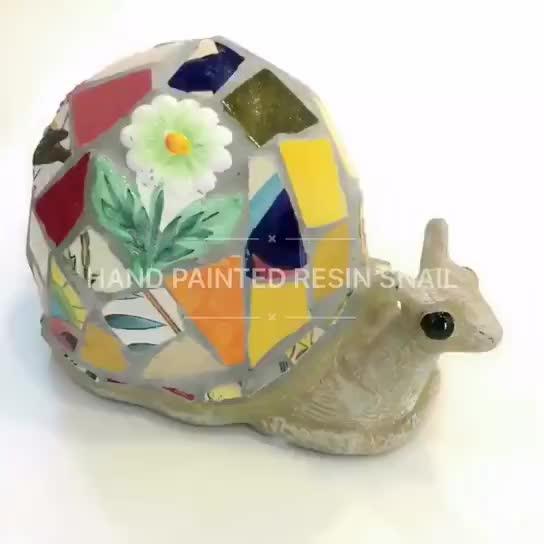 Hand Made Colorful Ceramic Mosaic Snail(20273) thumbnail image