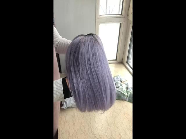 1bgrey bob Straight 100% Virgin Human Hair Wig thumbnail image