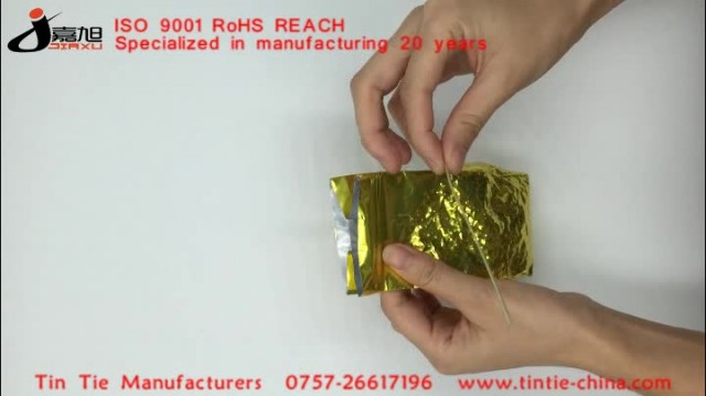 tin tie,adhesive Tin Tie, packaging material thumbnail image