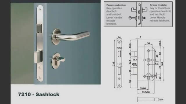 Euro Mortise Lock- 7200 Series
