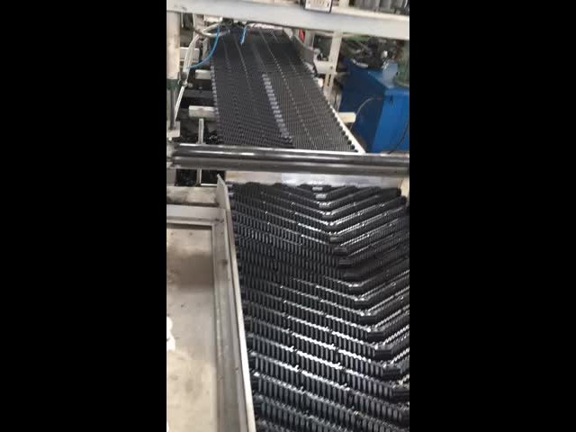 Oblique cooling tower fill production