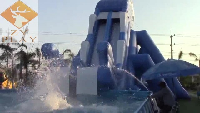 inflatable water slide thumbnail image