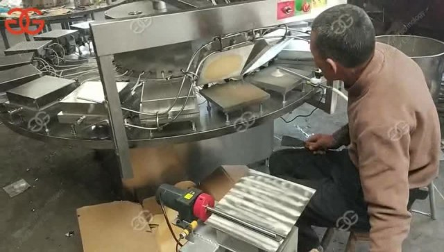 Automatic Electric Waffle Rolls Processing Line