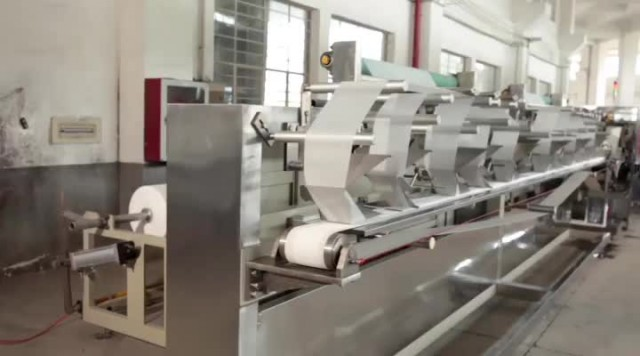 HY-2700A+HY-360 Hi-Speed Wet Wipe Production line thumbnail image