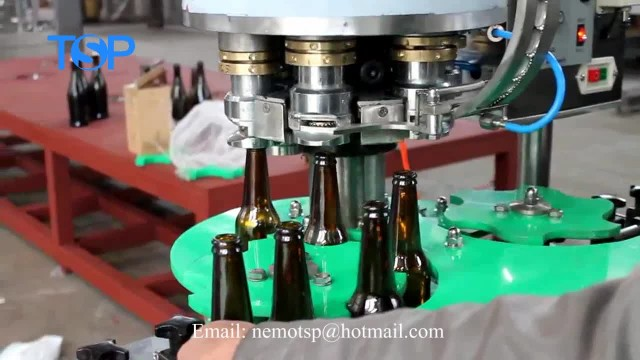 beer glass bottle cap seal crown capping machinery