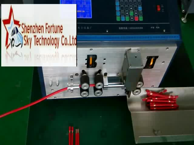 Auto cut-to-length thick wire stripping machine thumbnail image