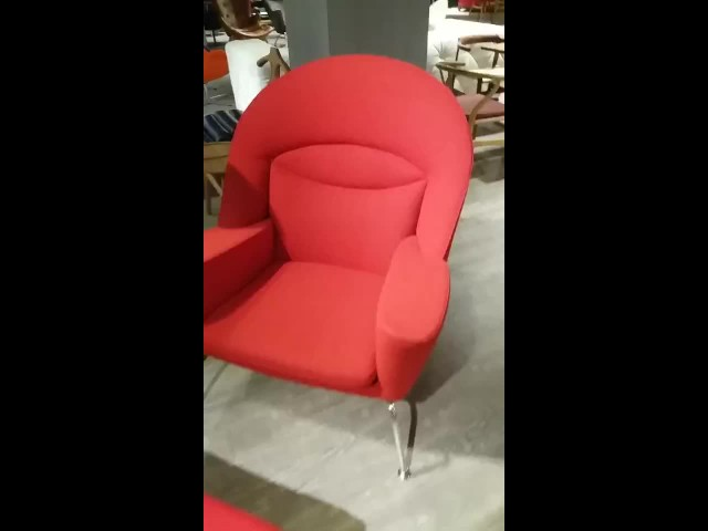 Mid century furniture Oculus chair with stool thumbnail image