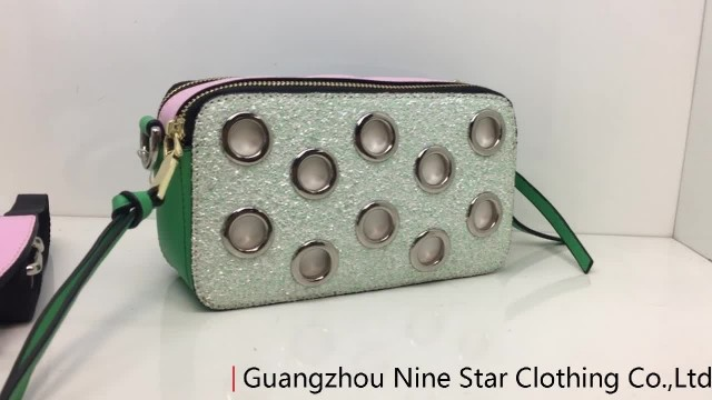 Fashion Handbag with Eyelets / Shoulder bag