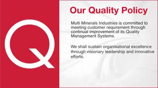 Multi Minerals Industries Corporate Video