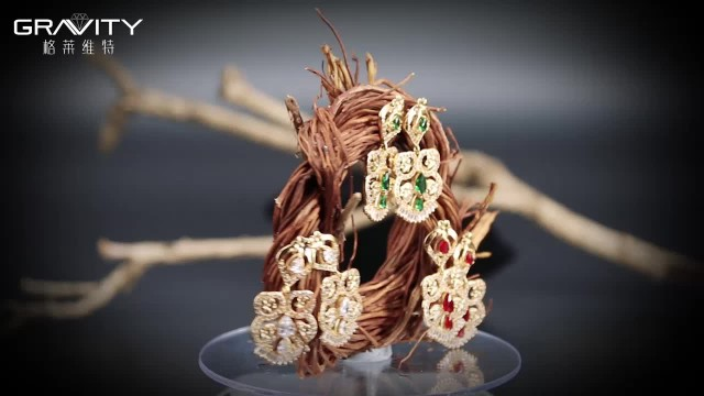 fashion real gold plated earrring